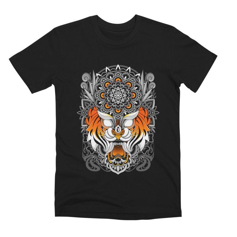 Tiger Mandala Men's T-Shirt by godzillarge's Artist Shop