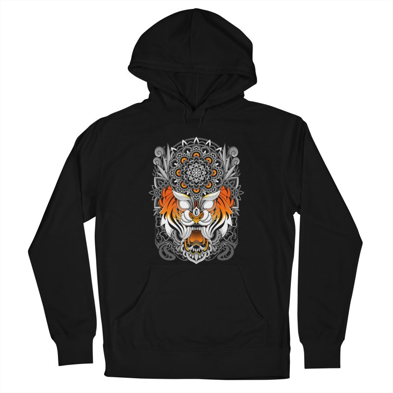 Tiger Mandala Women's Pullover Hoody by godzillarge's Artist Shop