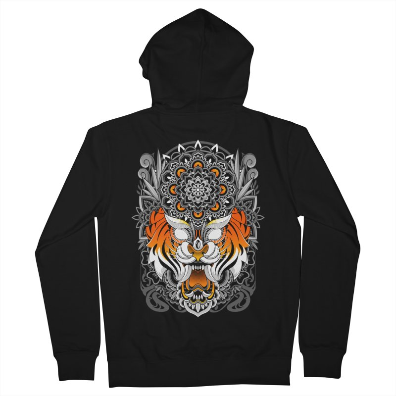 Tiger Mandala Women's Zip-Up Hoody by godzillarge's Artist Shop
