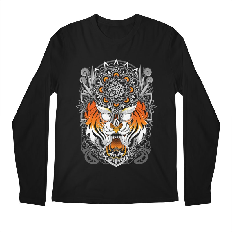 Tiger Mandala Men's Longsleeve T-Shirt by godzillarge's Artist Shop