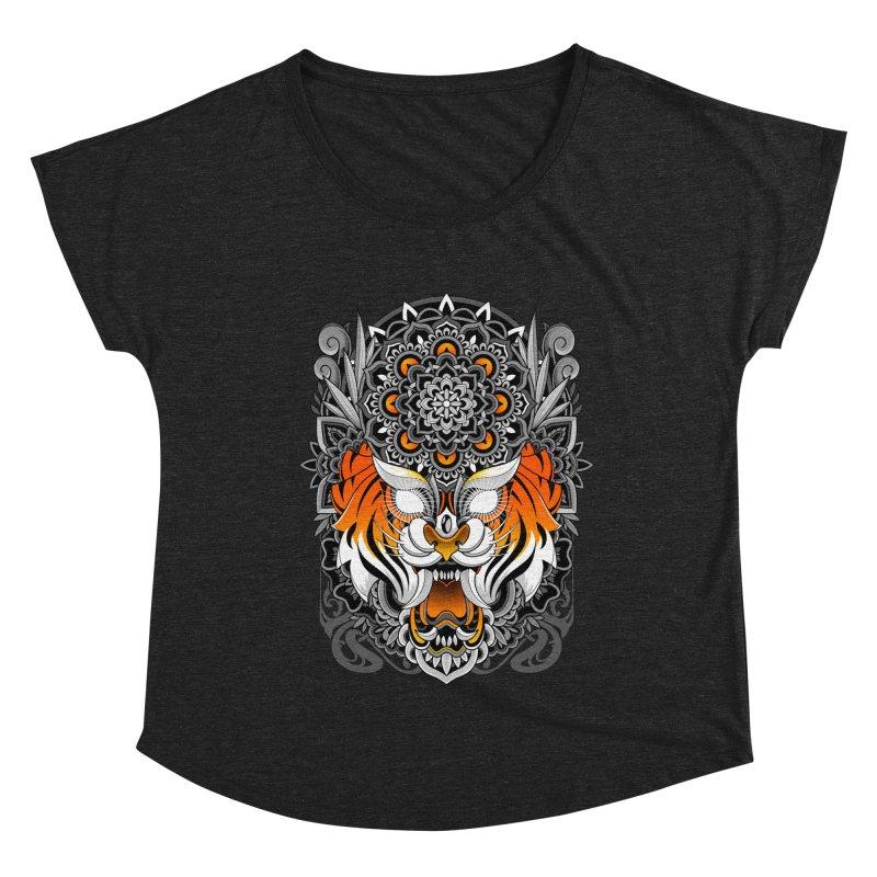 Tiger Mandala Women's Scoop Neck by godzillarge's Artist Shop