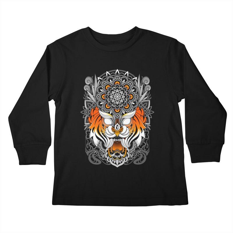 Tiger Mandala Kids Longsleeve T-Shirt by godzillarge's Artist Shop