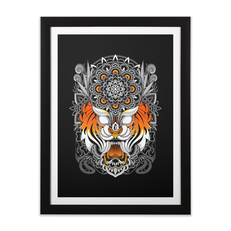Tiger Mandala Home Framed Fine Art Print by godzillarge's Artist Shop