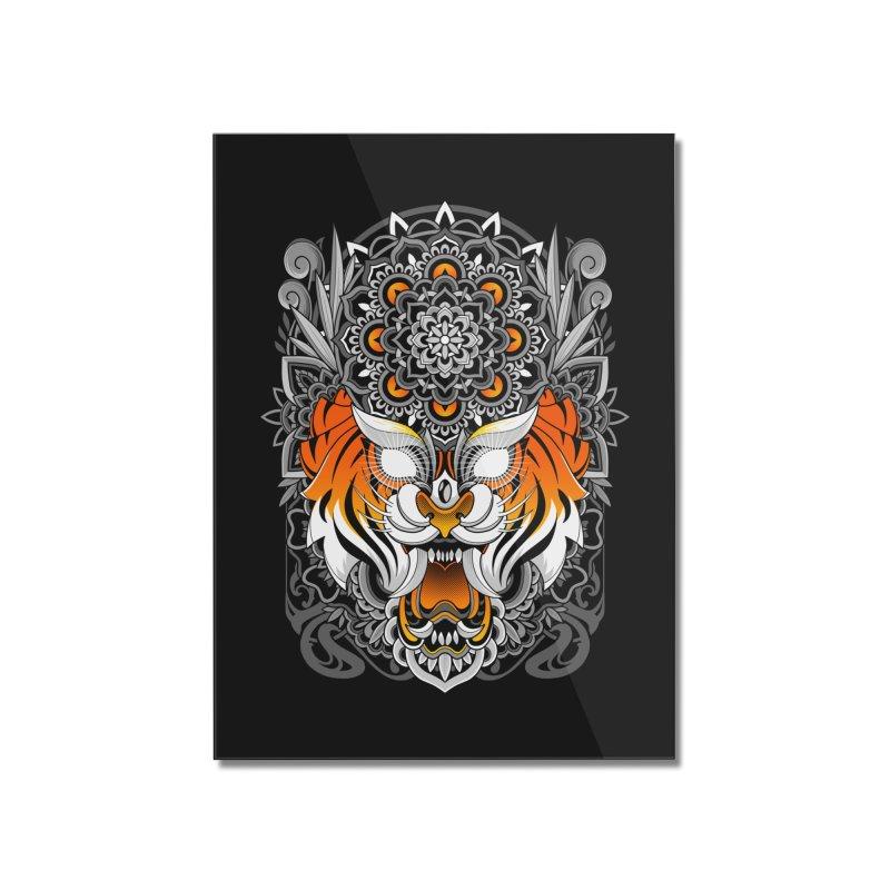 Tiger Mandala Home Mounted Acrylic Print by godzillarge's Artist Shop