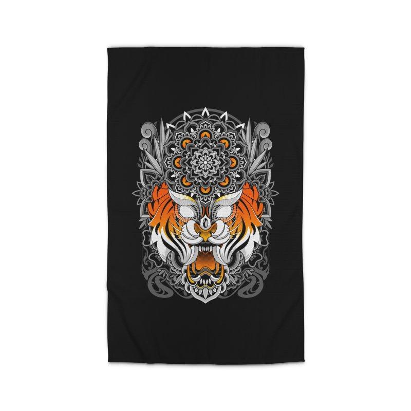 Tiger Mandala Home Rug by godzillarge's Artist Shop