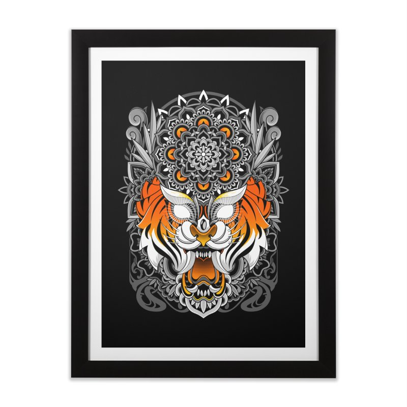 Tiger Mandala Home Framed Fine Art Print by godzillarge's Artist Shop