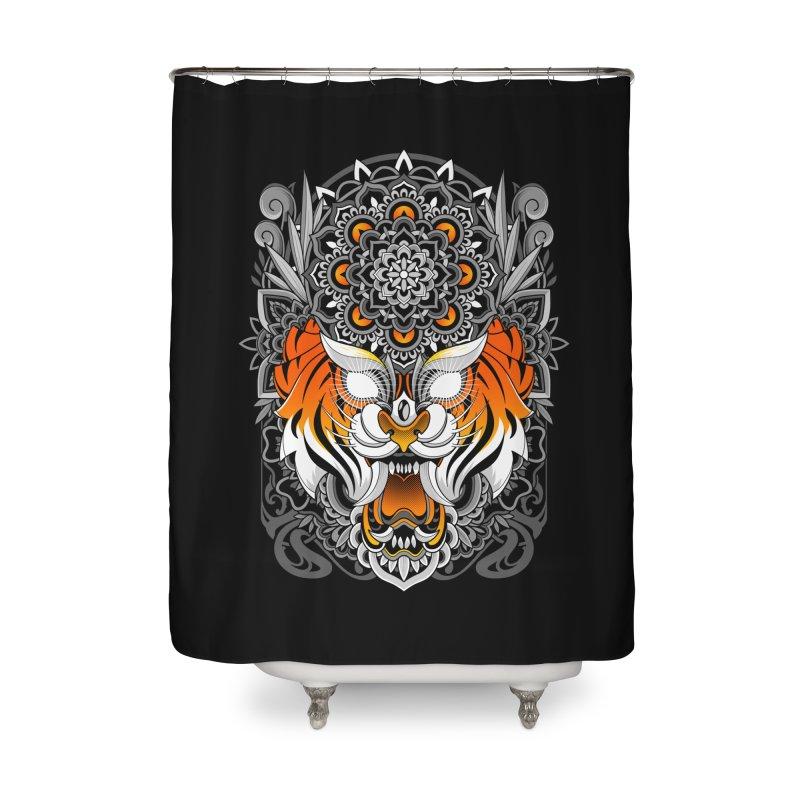 Tiger Mandala Home Shower Curtain by godzillarge's Artist Shop