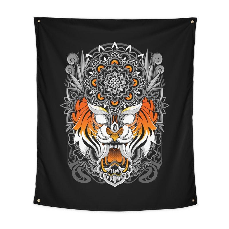 Tiger Mandala Home Tapestry by godzillarge's Artist Shop