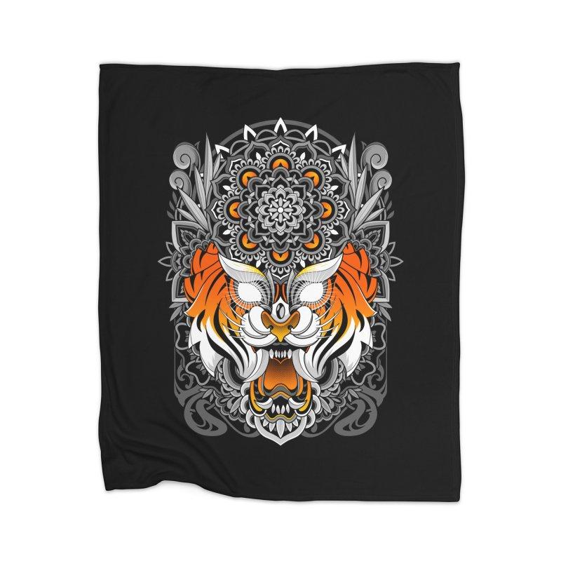 Tiger Mandala Home Blanket by godzillarge's Artist Shop