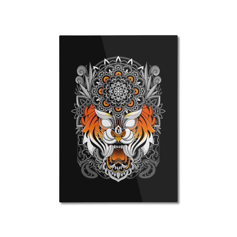 Tiger Mandala Home Mounted Aluminum Print by godzillarge's Artist Shop