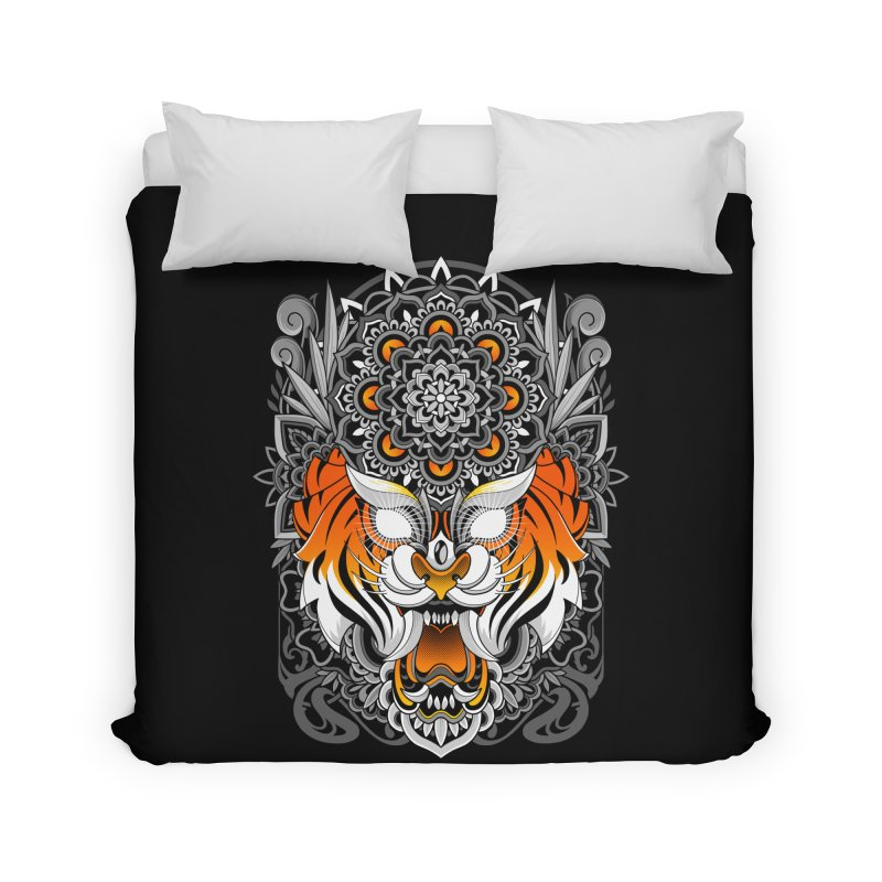 Tiger Mandala Home Duvet by godzillarge's Artist Shop