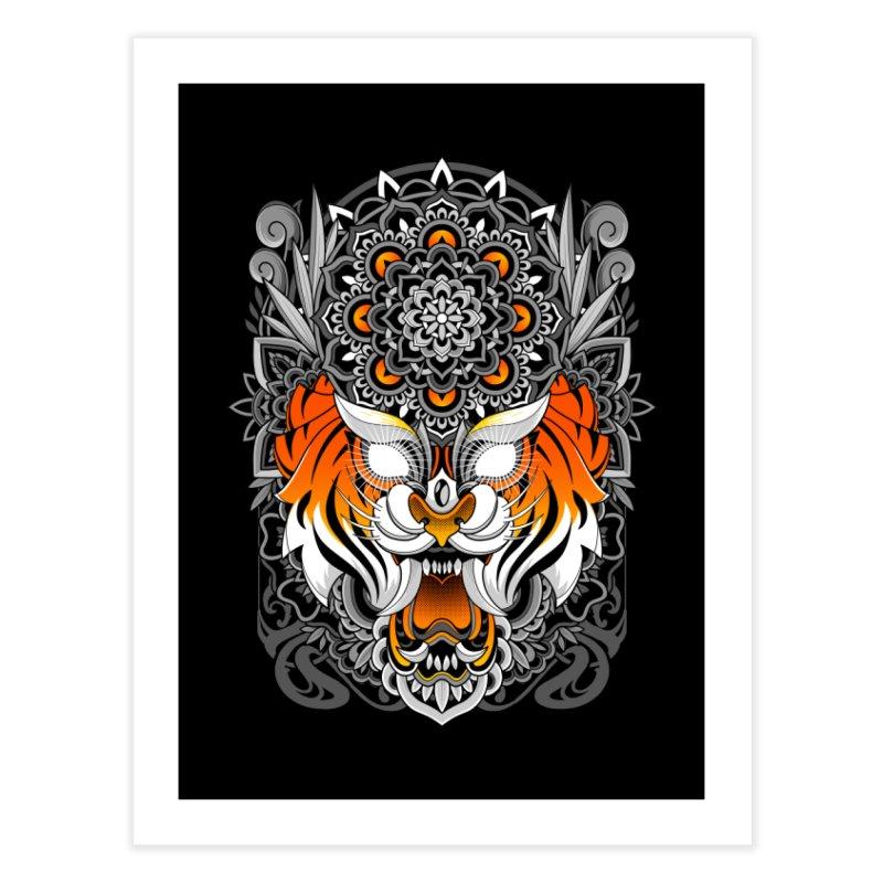 Tiger Mandala Home Fine Art Print by godzillarge's Artist Shop