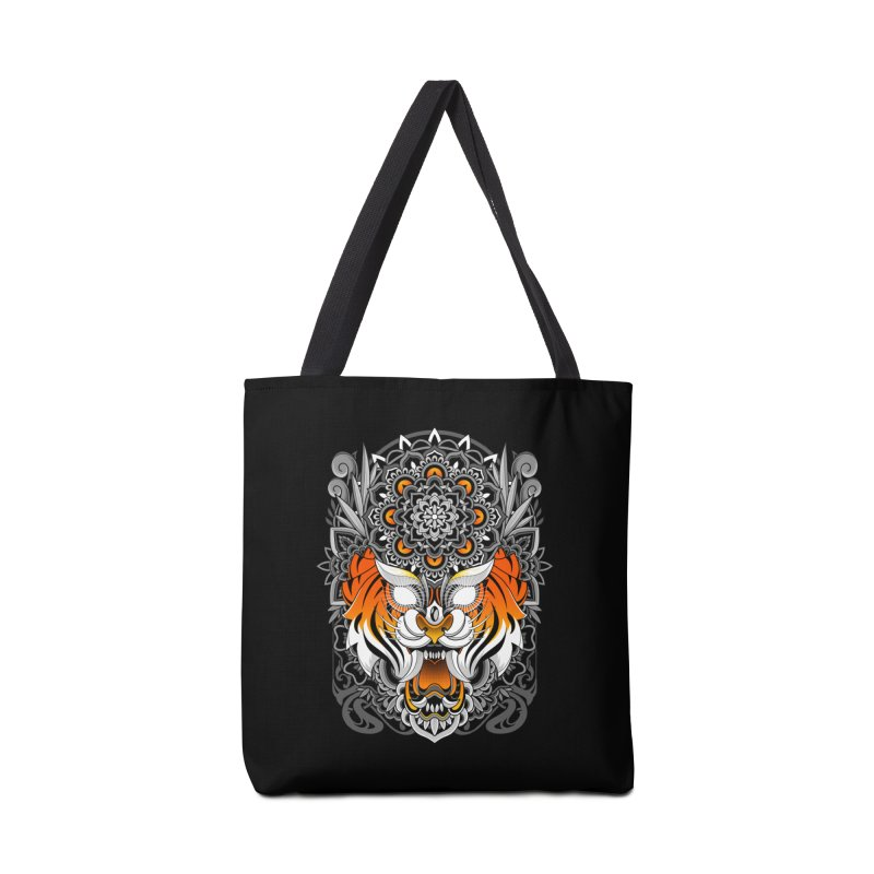 Tiger Mandala Accessories Bag by godzillarge's Artist Shop