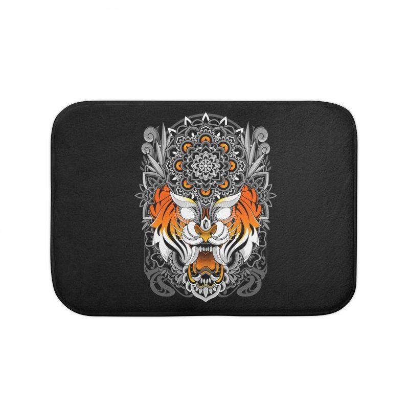 Tiger Mandala Home Bath Mat by godzillarge's Artist Shop