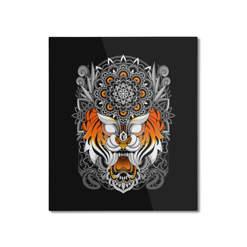 Tiger Mandala Home Mounted Aluminum Print by godzillarge's Artist Shop