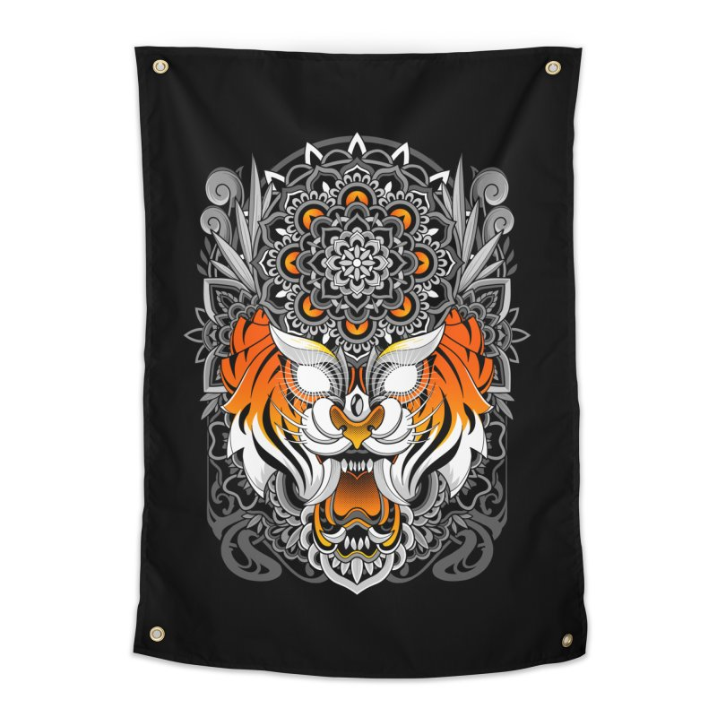 Tiger Mandala Home Tapestry by godzillarge's Artist Shop