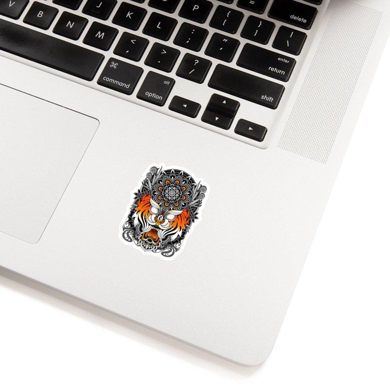 Tiger Mandala Accessories Sticker by godzillarge's Artist Shop