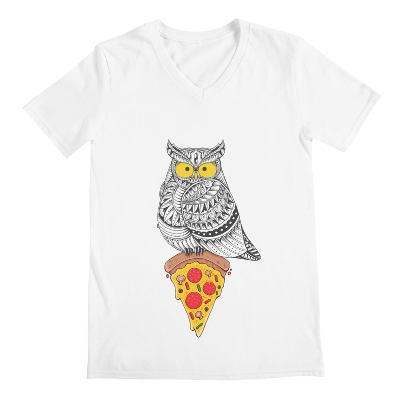 Midnight Snack Men's V-Neck by godzillarge's Artist Shop