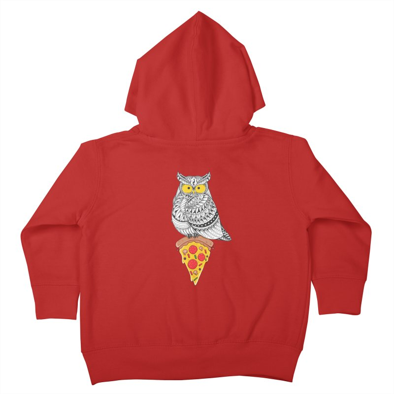 Midnight Snack Kids Toddler Zip-Up Hoody by godzillarge's Artist Shop