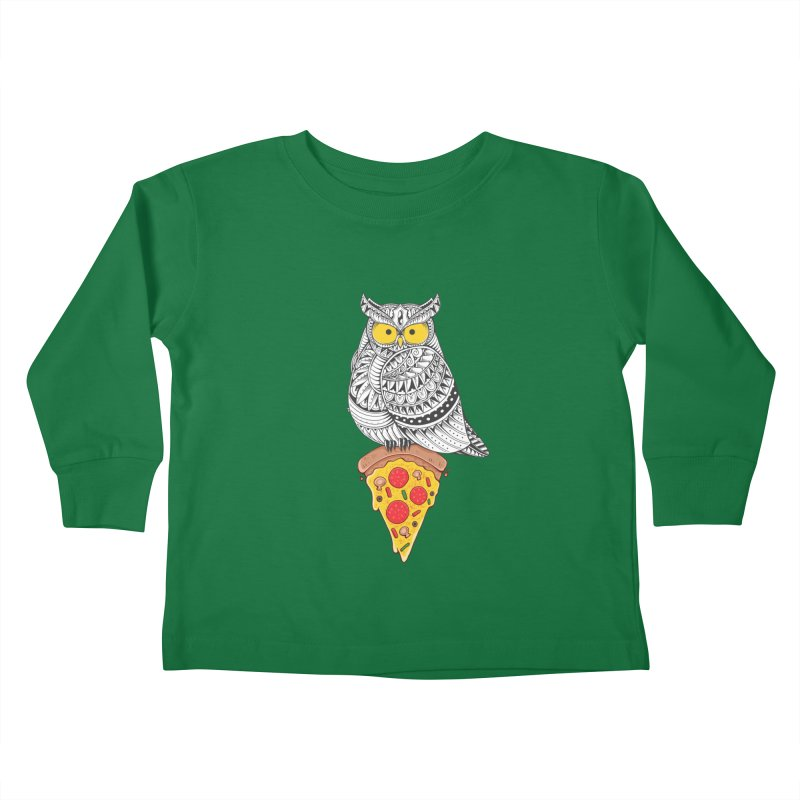 Midnight Snack Kids Toddler Longsleeve T-Shirt by godzillarge's Artist Shop