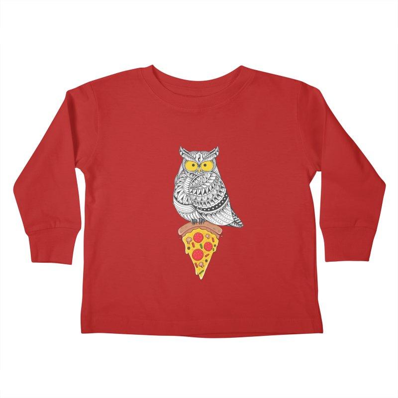 Midnight Snack Kids Toddler Longsleeve T-Shirt by godzillarge's Artist Shop