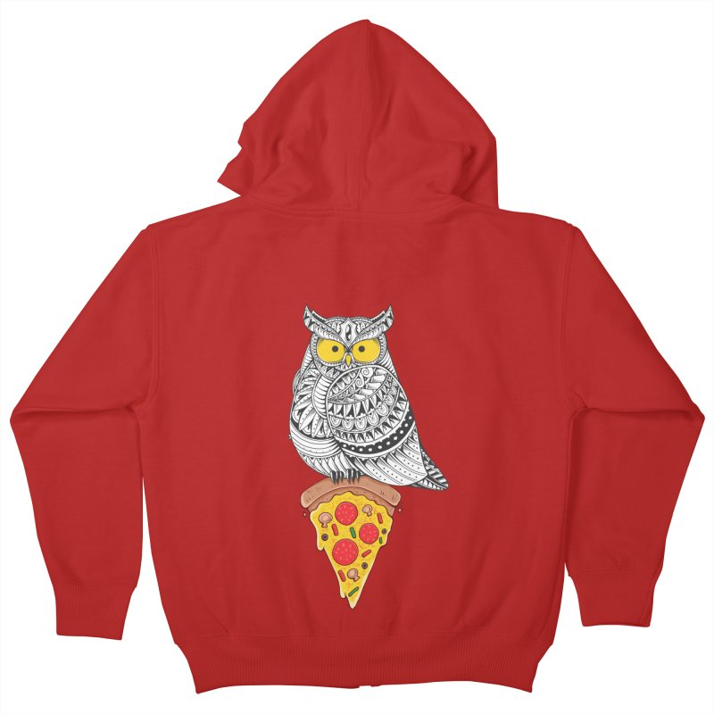 Midnight Snack Kids Zip-Up Hoody by godzillarge's Artist Shop