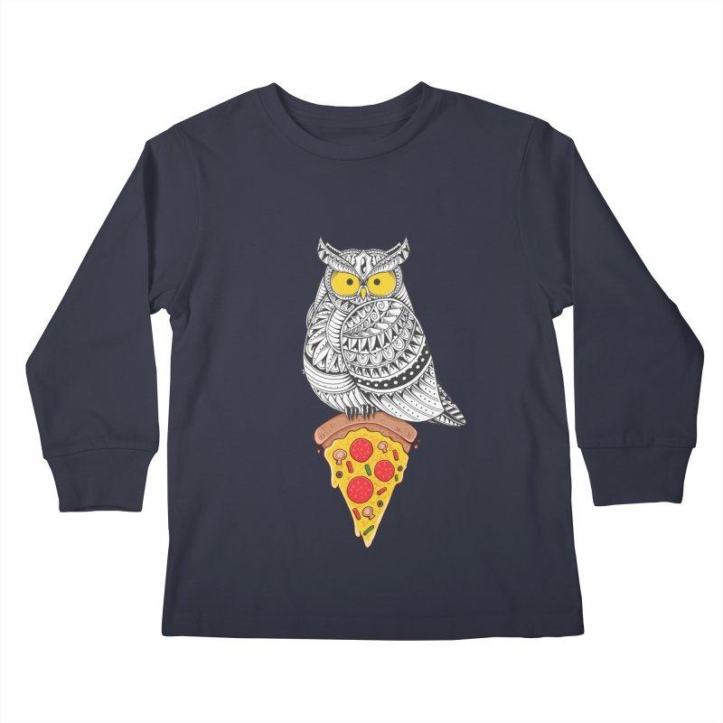 Midnight Snack Kids Longsleeve T-Shirt by godzillarge's Artist Shop