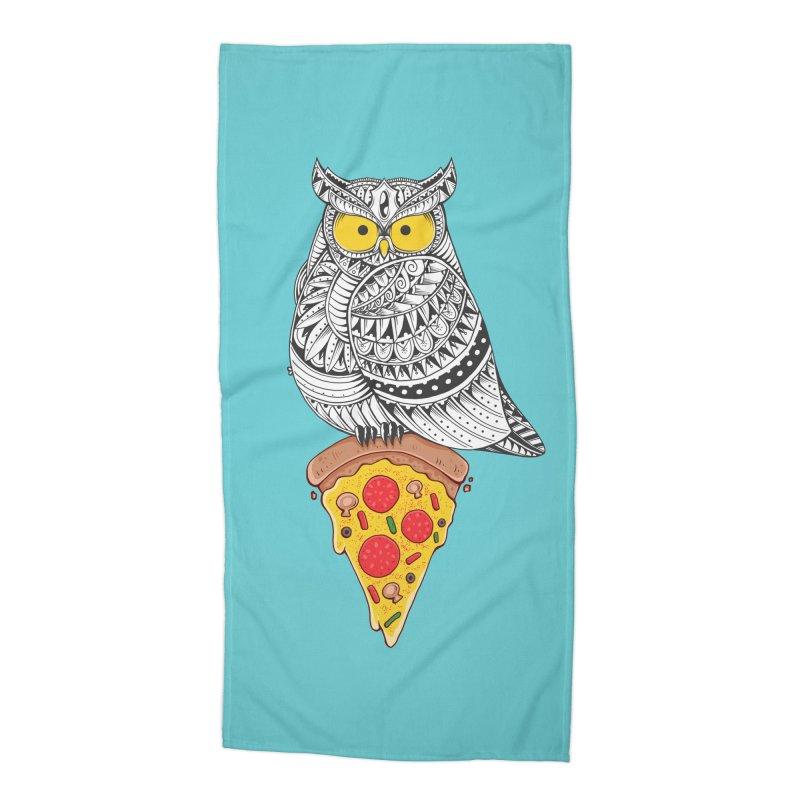 Midnight Snack Accessories Beach Towel by godzillarge's Artist Shop