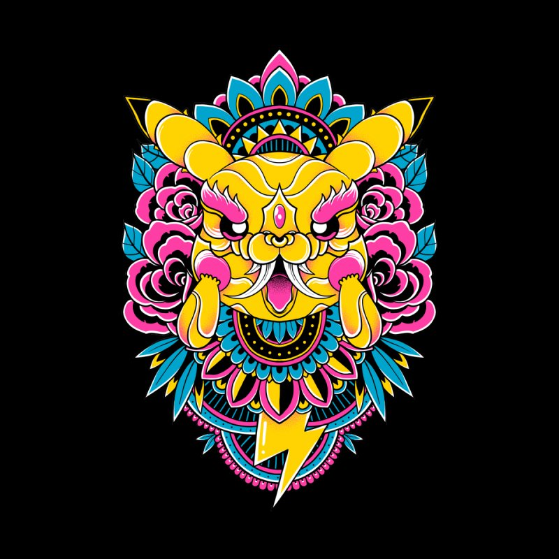 Oni Pikachu Kids T-Shirt by godzillarge's Artist Shop