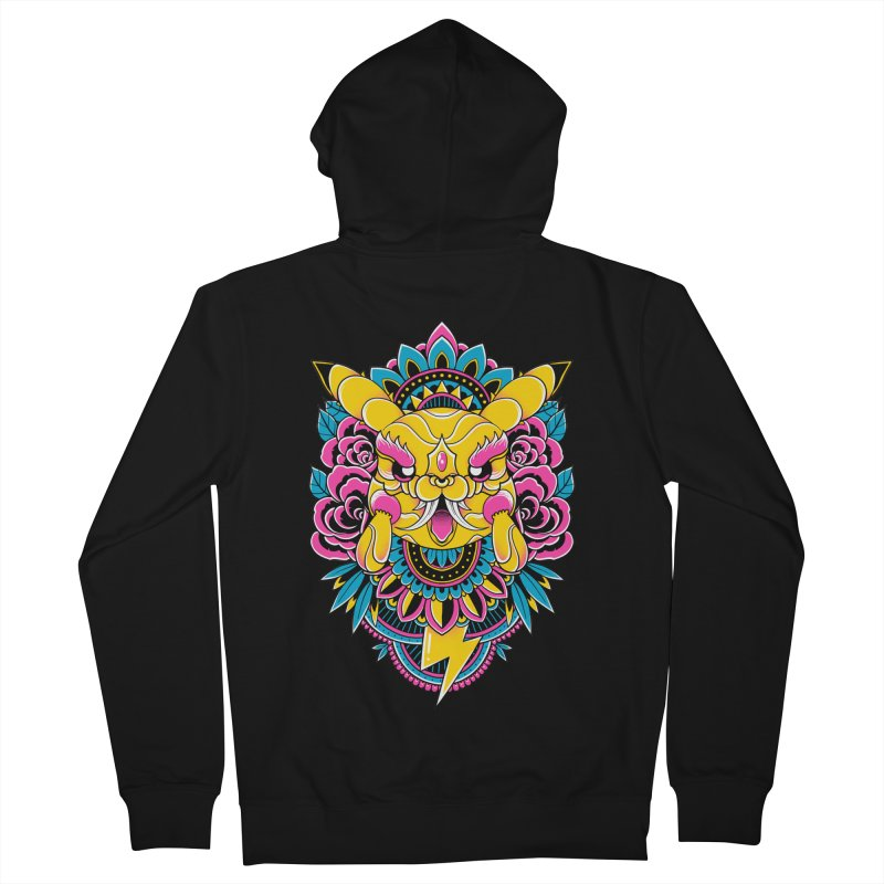 Oni Pikachu Men's Zip-Up Hoody by godzillarge's Artist Shop