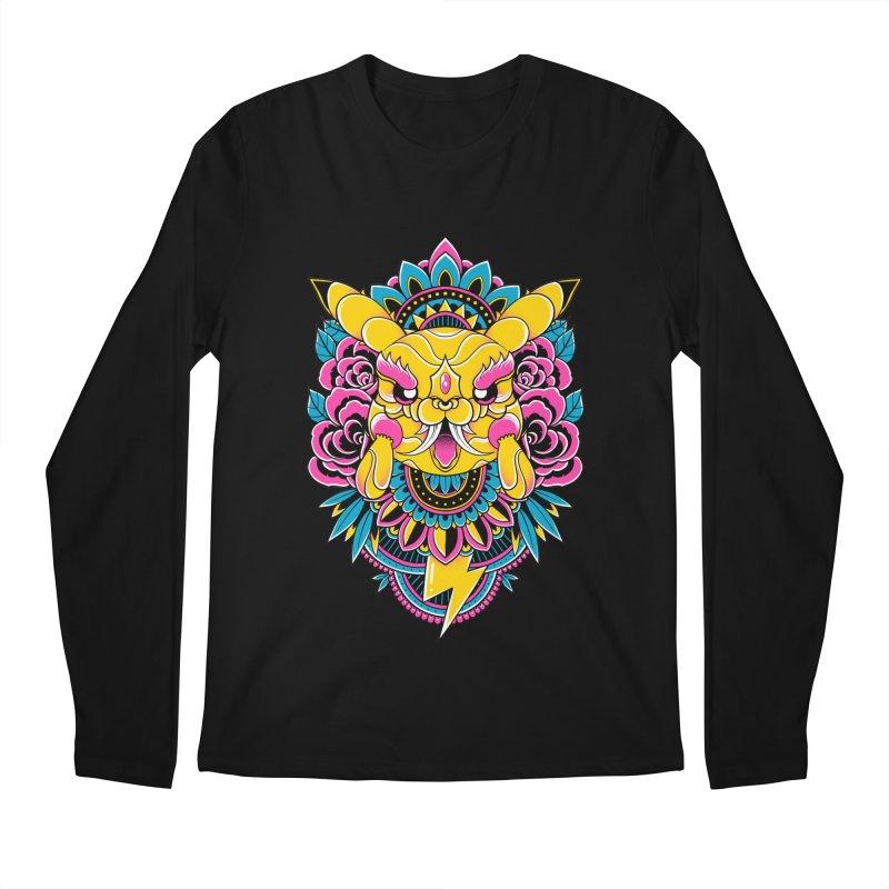 Oni Pikachu Men's Longsleeve T-Shirt by godzillarge's Artist Shop