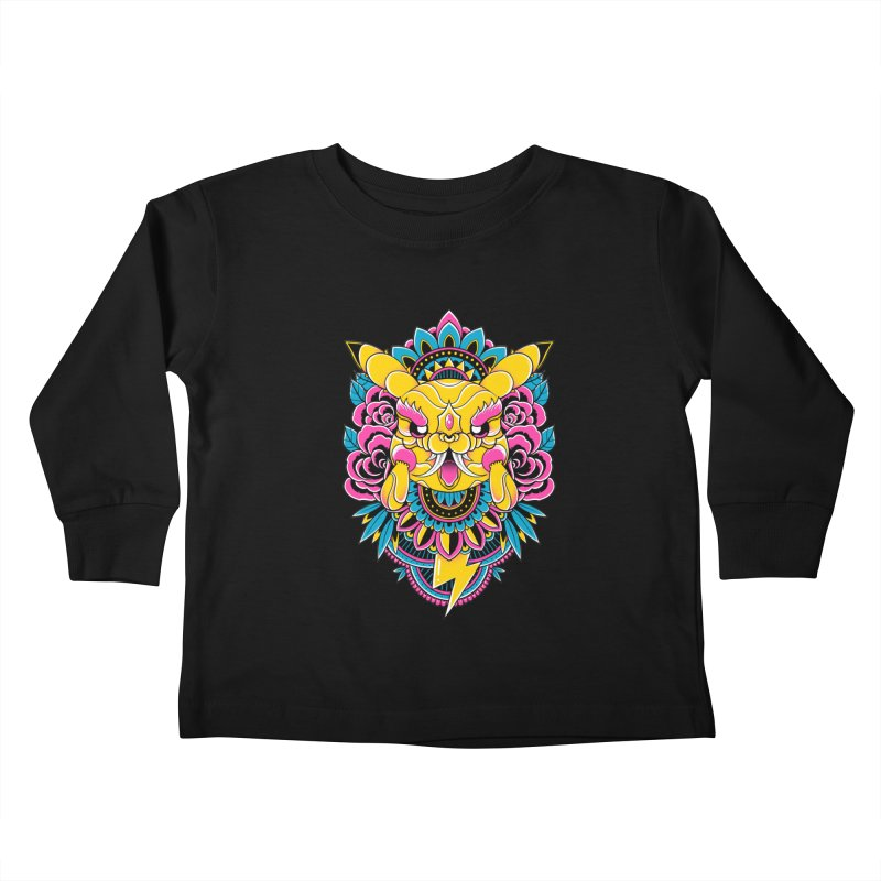 Oni Pikachu Kids Toddler Longsleeve T-Shirt by godzillarge's Artist Shop