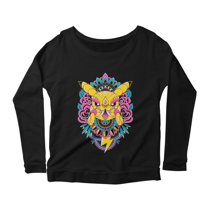 Oni Pikachu Women's Longsleeve T-Shirt by godzillarge's Artist Shop