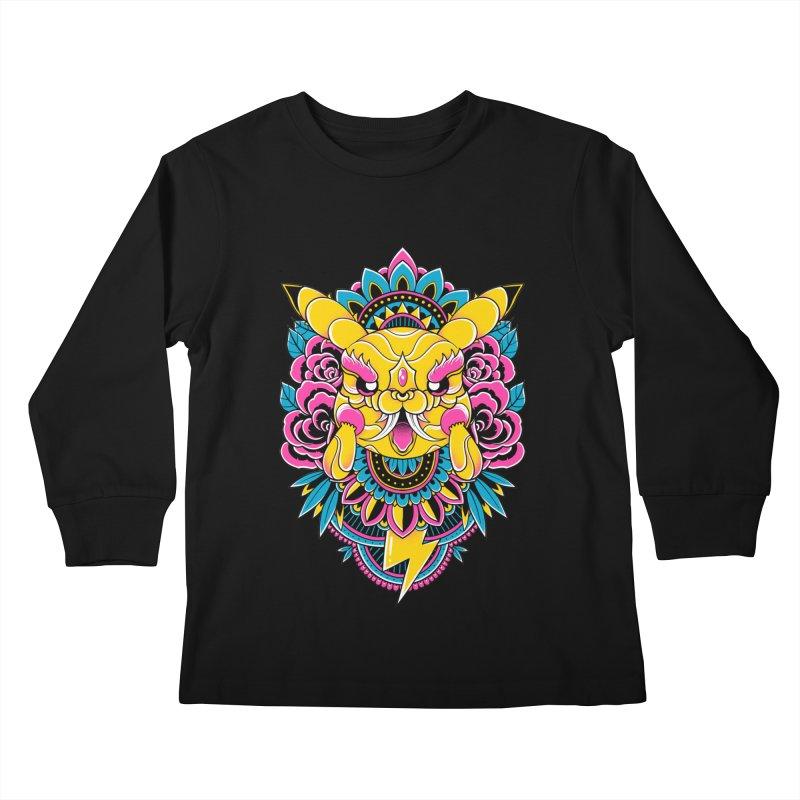 Oni Pikachu Kids Longsleeve T-Shirt by godzillarge's Artist Shop