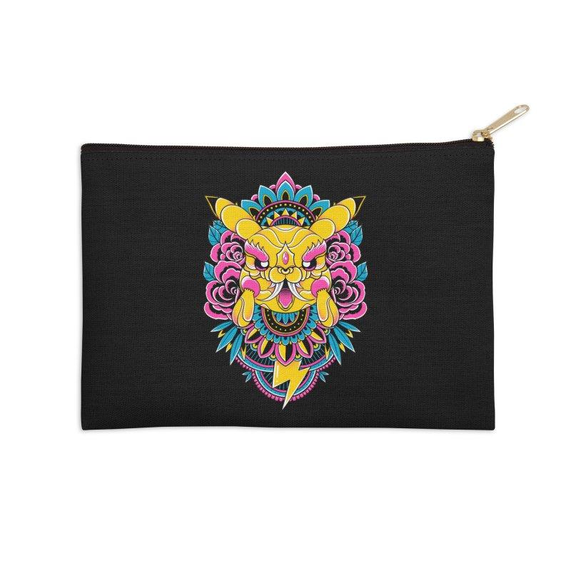 Oni Pikachu Accessories Zip Pouch by godzillarge's Artist Shop