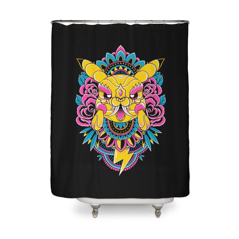 Oni Pikachu Home Shower Curtain by godzillarge's Artist Shop