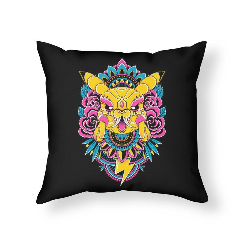 Oni Pikachu Home Throw Pillow by godzillarge's Artist Shop