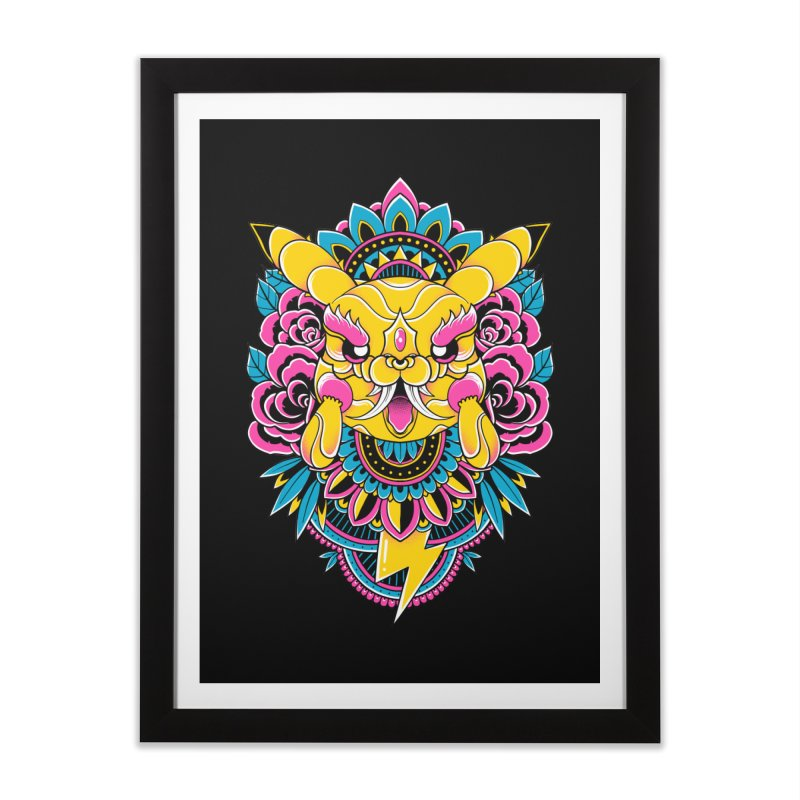Oni Pikachu Home Framed Fine Art Print by godzillarge's Artist Shop