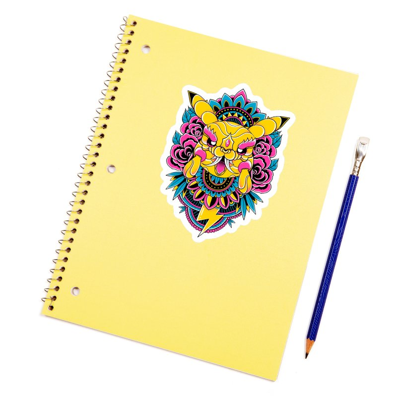 Oni Pikachu Accessories Sticker by godzillarge's Artist Shop
