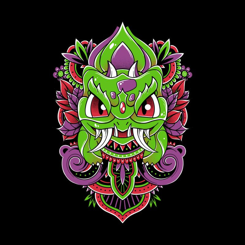 Oni Bulbasaur Women's V-Neck by godzillarge's Artist Shop