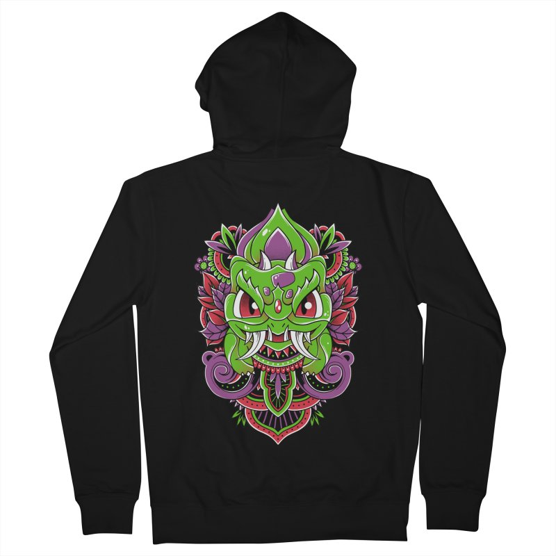 Oni Bulbasaur Men's Zip-Up Hoody by godzillarge's Artist Shop