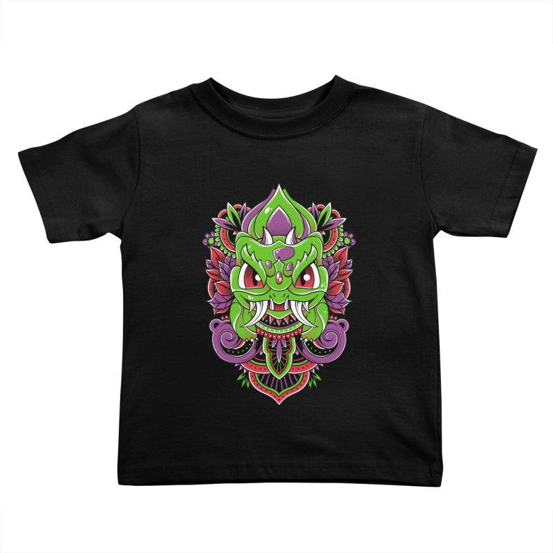 Oni Bulbasaur Kids Toddler T-Shirt by godzillarge's Artist Shop