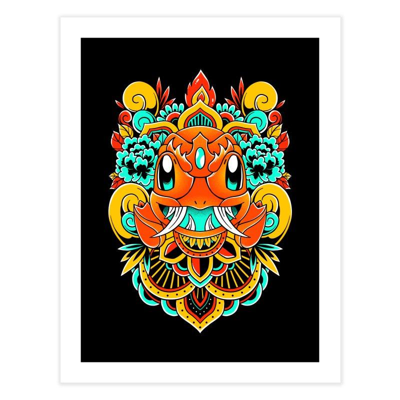 Oni Charmender Home Fine Art Print by godzillarge's Artist Shop