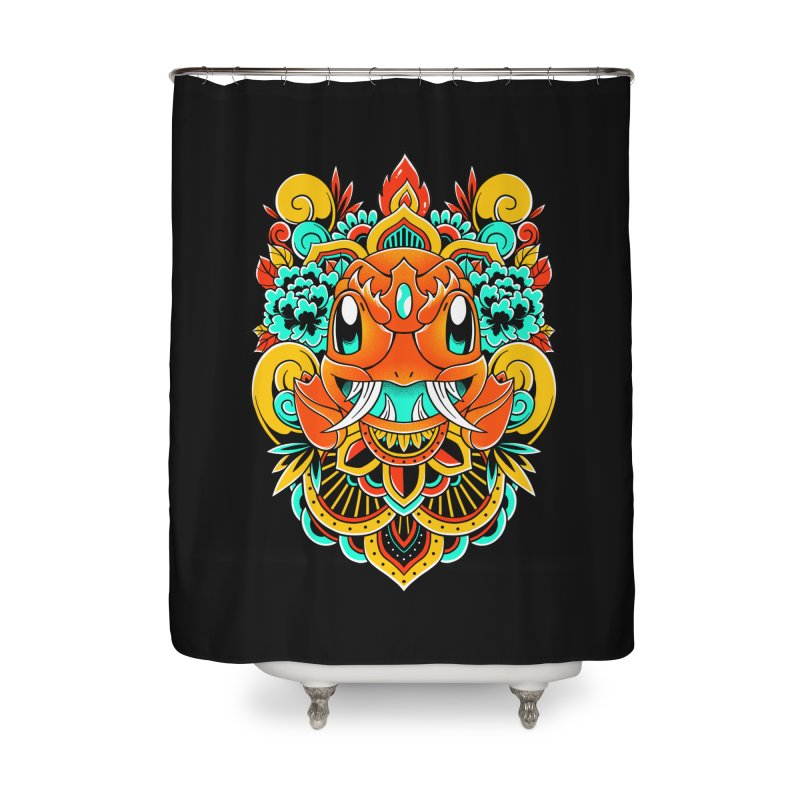 Oni Charmender Home Shower Curtain by godzillarge's Artist Shop