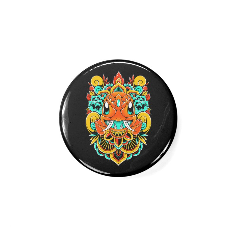 Oni Charmender Accessories Button by godzillarge's Artist Shop
