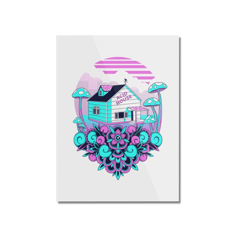 Acid House Home Mounted Acrylic Print by godzillarge's Artist Shop
