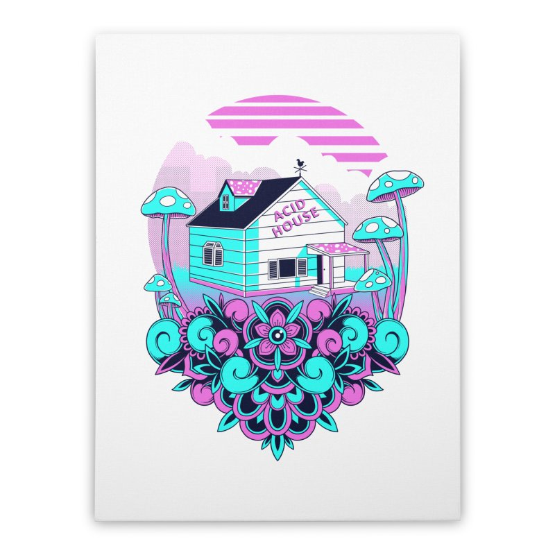 Acid House Home Stretched Canvas by godzillarge's Artist Shop