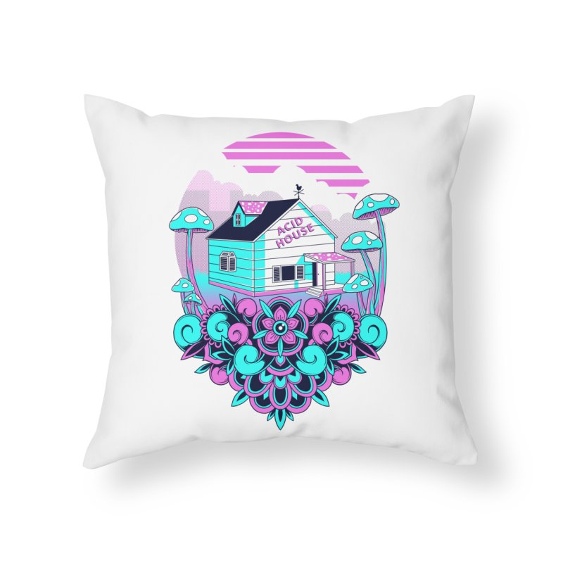 Acid House Home Throw Pillow by godzillarge's Artist Shop