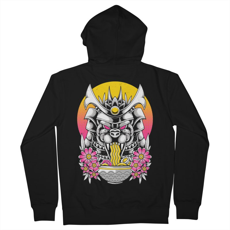 Samurai Kaiju Ramen Men's Zip-Up Hoody by godzillarge's Artist Shop