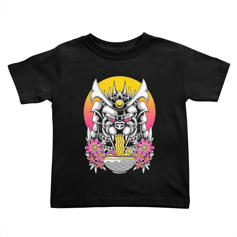 Samurai Kaiju Ramen Kids Toddler T-Shirt by godzillarge's Artist Shop